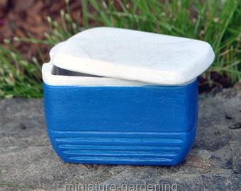 Cooler for Miniature Garden, Fairy Garden, Color: Blue