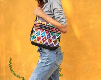 Hmong Shoulder Bag / Hmong Messenger Bag / Embroidery Bag