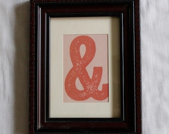 Dark Brown Picture Frame with Print