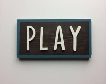 PLAY wall decor / playroom sign