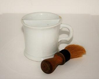 Excelsior Shaving Mug with Brush