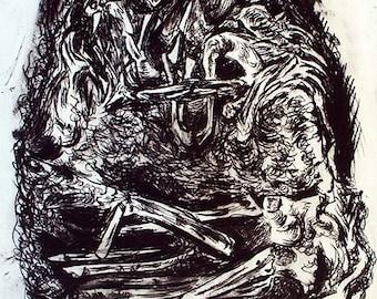 Skeleton Lovers of Valdaro print