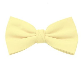 Lemon Men's Wedding/Prom Bow Tie available in 37 colours by Matchimony