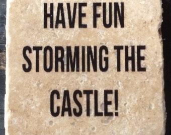 Princess Bride Castle Quote Coaster or Decor Accent