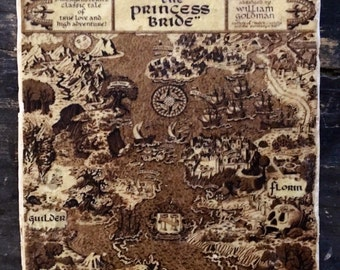Princess Bride Map Coaster or Decor Accent
