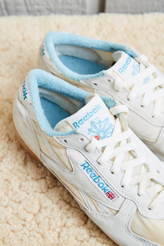 deac1bc345de 1980s Reebok White Low Top Leather Squash Shoe by SoftServeVintage 50%OFF