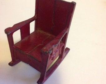 Kilgore Cast Iron Dollhouse Rocking Chair 1920s