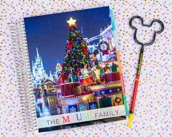 Disney World Erin Condren Life Planner Cover CUSTOMIZED DIGITAL DOWNLOAD - Christmas on Main Street