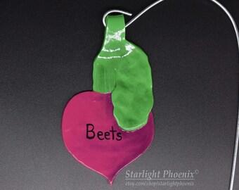 Beet Tag, Garden Marker, Garden Stake, Garden Tag, Plant Marker, Plant Tag, Vegetable Marker, Vegetable Tag, Vegetable Garden, Polymer Clay