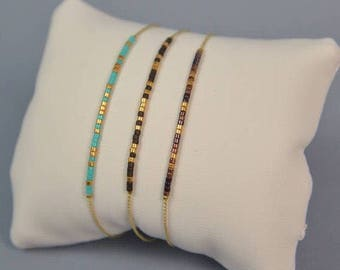 Handmade BRACELET MIYUKI Beads, Milky Way Collection, GOLD and Miyuki Beads, Glamour Bracelets to use together or separately.