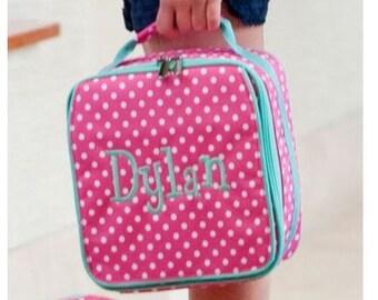 Monogram Lunchbox Pink Dottie
