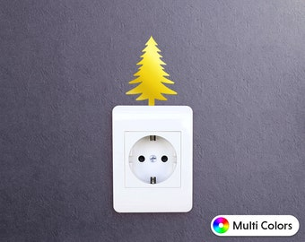 Christmas Tree Decal, Christmas Tree Sticker for iPad iPhone MacBook Or Walls and Cars