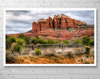 Landscape photography, sedona art print, cathedral rock, arizona wall art, desert wall art, framed art print, matted print, sedona picture
