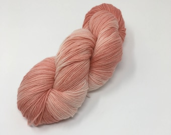 Blush Semi solid Indie Dyed Yarn on Merino cashmere Nylon MCN pink peach tonal