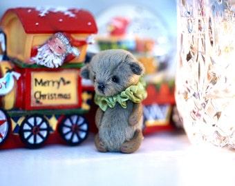 Artist teddy bear ooak friend for blythe toy miniature teddy bear toy pocket toy blythe outfit blythe accessories mini miniatures dollhouse