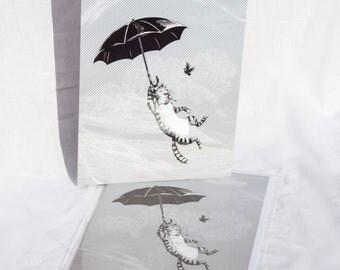 Cat Umbrella card