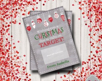Target Gift Card Holder Christmas - XMAS006 - Printable, Personalized, holiday, gift card, teacher, student, co-worker, boss, gift idea