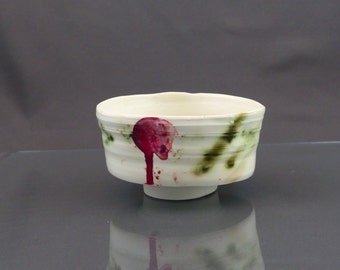 "single piece porcelain bowl ""calligraphy"""