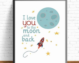 outer space print, kids art room,4 SIZES INCLUDED, kids art decor, wall art kids, poster kids, nursery decor, nursery print, space print