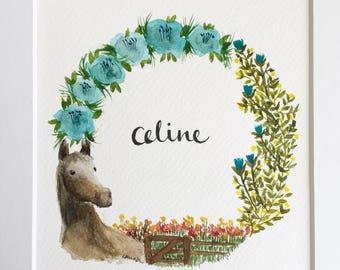 Personalised Wreath Art