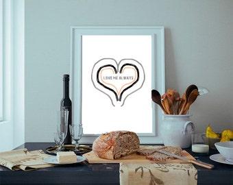 Christmas gifts, Instant Download Printable Art, Wall Art Prints, Prints, Wall Decor, Love Print, Digital Print, Hearts Wall Art, gifts