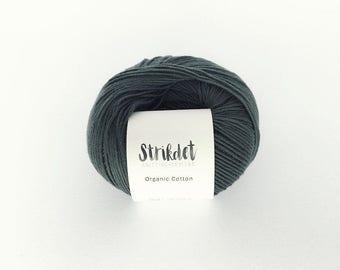 STRIKDET Organic Cotton - dusty forrest green / Økologisk Bomuld - støvet skovgrøn