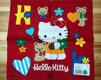 Sanrio Hello Kitty 1997 Vintage child's handkerchief Made in Japan
