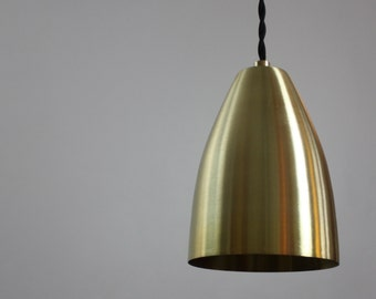 Brass Pendant Light - Neal - Industrial Modern Corded Ceiling Pendant Light