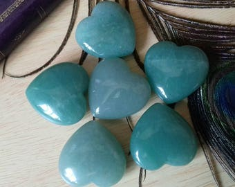 Green Aventurine Polished Crystal Pocket Heart - Crystal Healing, Anxiety Relief, Courage, Emotional Recovery, Confidence, Heart Chakra