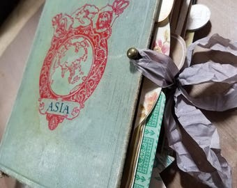 Junk Journal/ Geographical Reader/repurposed vintage book