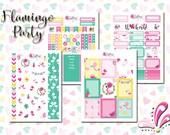 Flamingo Party - Planner Stickers for Kikki.K, Filofax, Happy Planner, Erin Condren etc