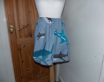 cute kawaii handmade shark skirt one size
