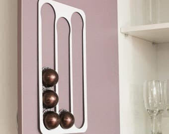 Abacus Pod Rack, a kitchen accessory that holds and dispenses your Nespresso Vertuoline coffee capsules VW15