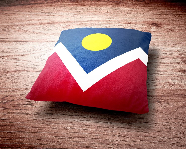 Denver Flag Throw Pillow - Denver Colorado Flag Throw Pillow