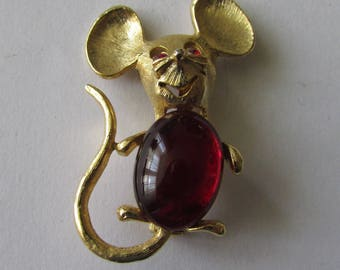 Vintage Red Jelly Belly Mouse Pin