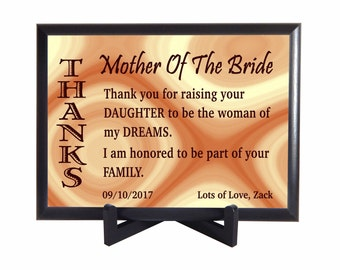 Mother of the Bride Custom Gift, Special Gift to Mother in Law, Wedding Thank you Gift for Mother in Law,Parents of the Bride Gift,PWH010