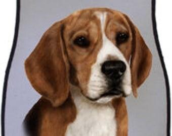 Beagle Car Mats by artist Tamara Burnett (set of 2)