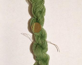 100% green leaf vegetable dye wool