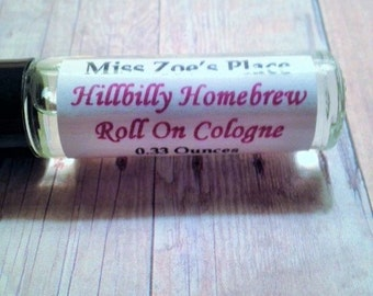 Hillbilly Homebrew Roll On Cologne Oil, Mens Natural Cologne, Fragrance For Men, Cologne For Men, Masculine Cologne, Roll On Fragrance