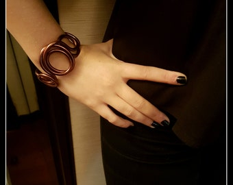 Copper-colored aluminum BRACELET-jewelry-jewelry-bracelet aluminium aluminium copper-band bracelet-Bangle