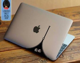 Zipper Monster - Macbook Vinyl Decal Sticker / Laptop Decal / iPad Sticker