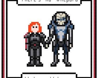 Mass Effect Shepard Garrus Shakarian cross-stitch needlework pattern