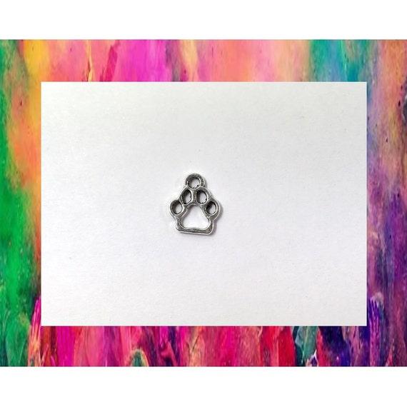 20 encantos de pata de perro plata 2 caras perro por Findings4Less