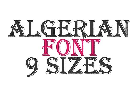Find Fonts Similar To Algerian Mesa