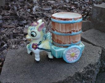 Donkey and Cart Planter