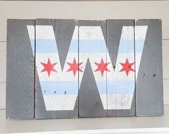 Chicago Cubs Sign - Chicago Cubs - Wood Sign - Cubbies Sign - Chicago Cubs decor - Cubs Win Sign - Fly the W - Chicago Cubs Flag - W Flag