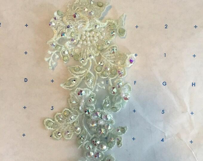 Applique with rhinestones: dance costume hair accessory