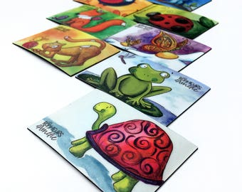 turtle magnet, refrigerator magnetLes Bonheurs d'Amélie's drawing