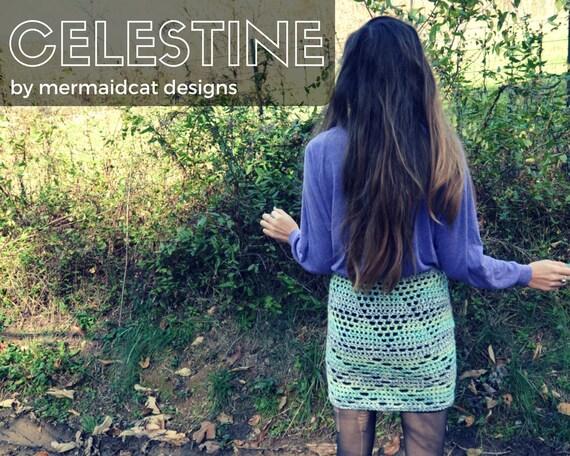 Crochet pencil skirt pattern - Celestine