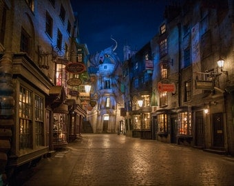 Harry Potter Diagon Alley Nighttime Wall Mural